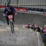 #33 (GEORGE Danielle) USA at the 2016 UCI BMX Supercross World Cup in Manchester, UK.